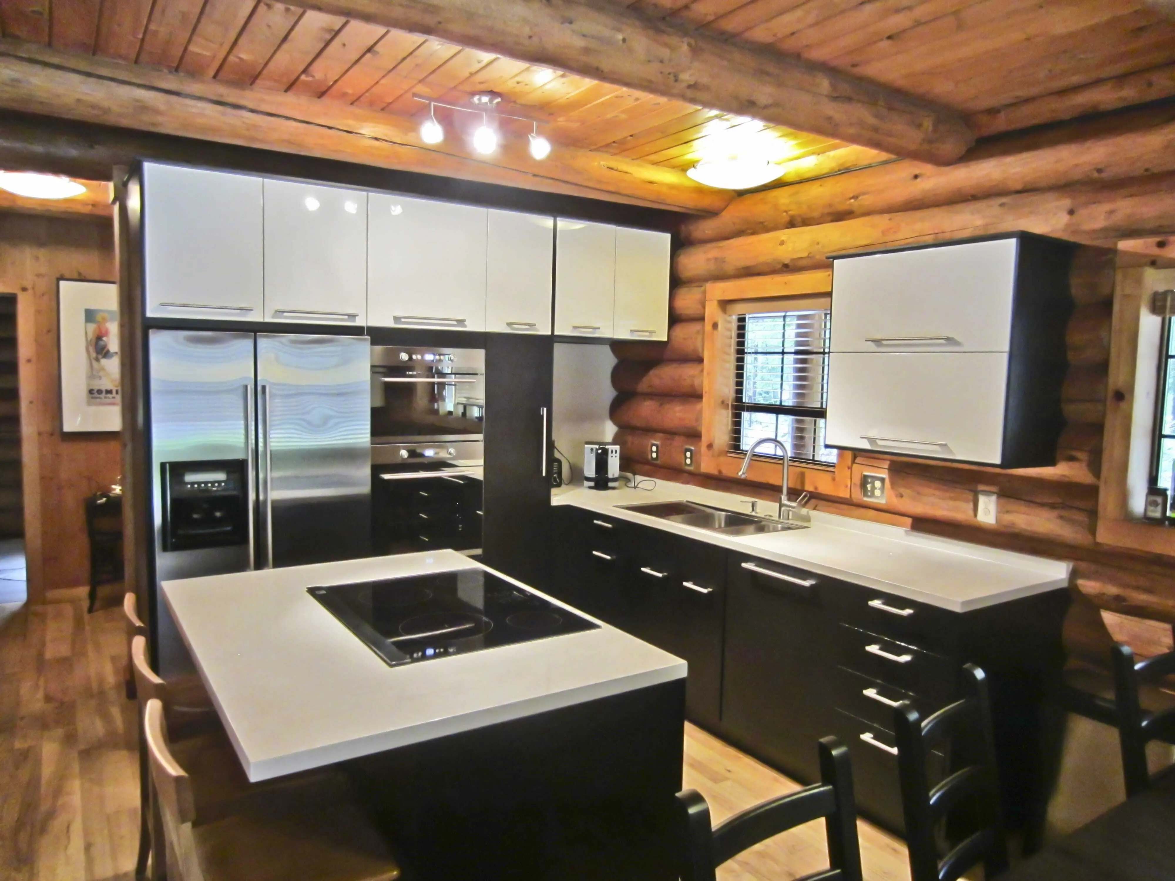 installing ikea cabinets in a log home ikea cabinets kitchen There