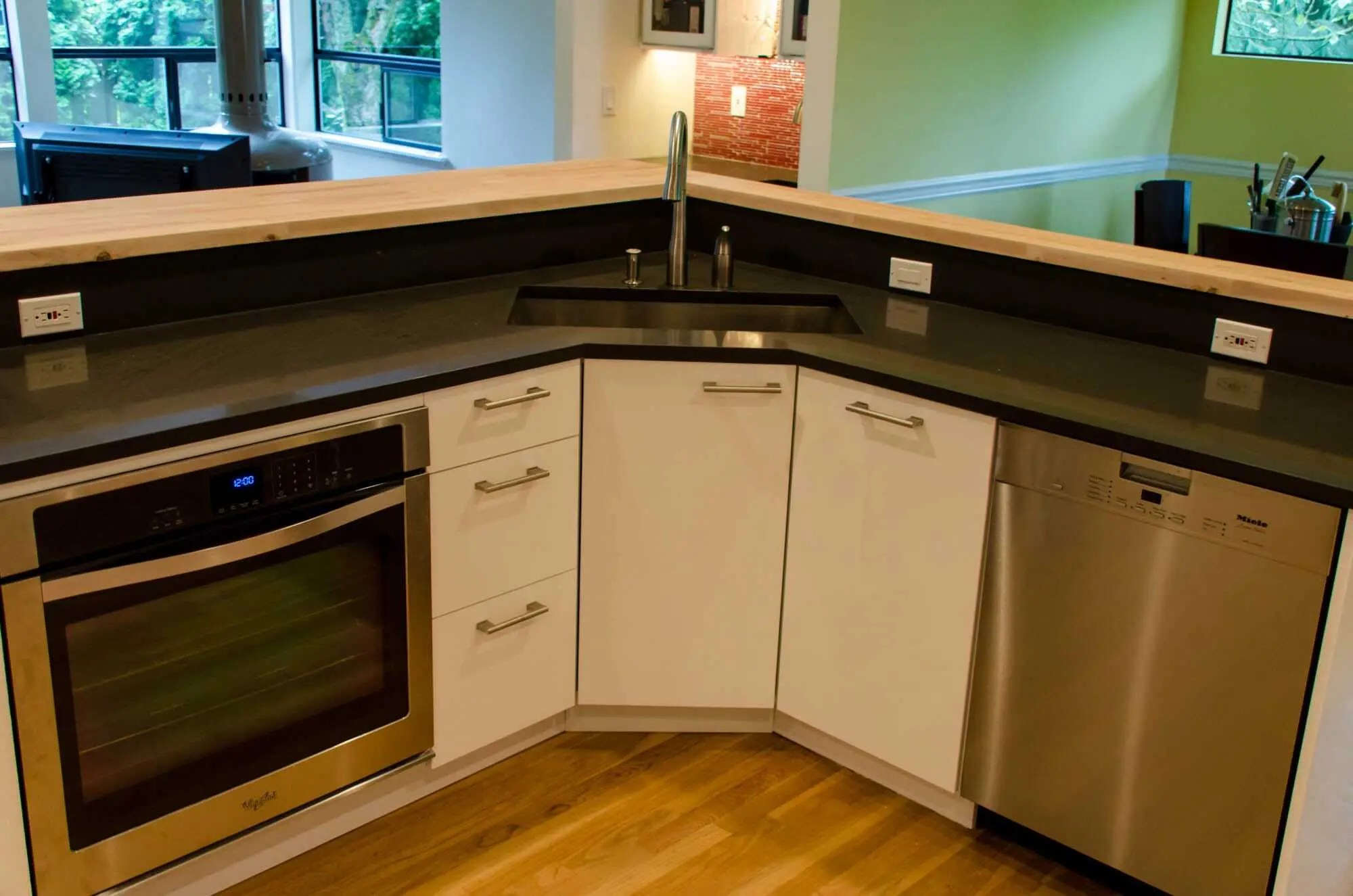 an ikea kitchen that pops corner sink kitchen Kitchen Kirkland 5