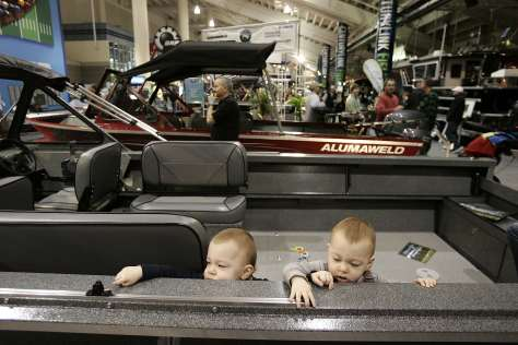 """""""SO WE COULD PUT A 'RIGGER MOUNT HERE, AND A CUP HOLDER FOR OUR BABY BOTTLES HERE ... (SEATTLE BOAT SHOW)"""