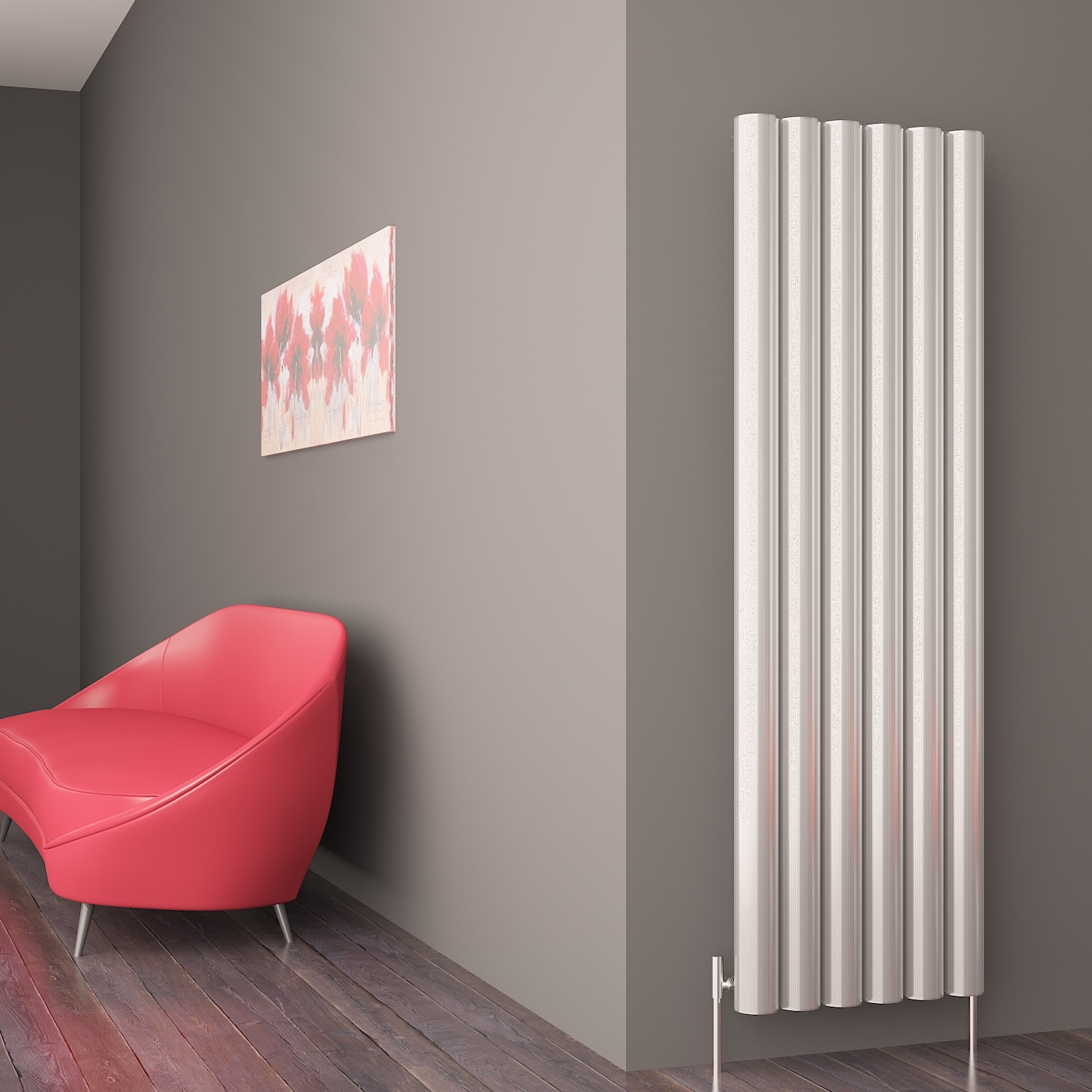 Whirlpool Outdoor Otto Carisa Otto Polished Anodized Aluminium Designer Vertical Radiators 3 Sizes
