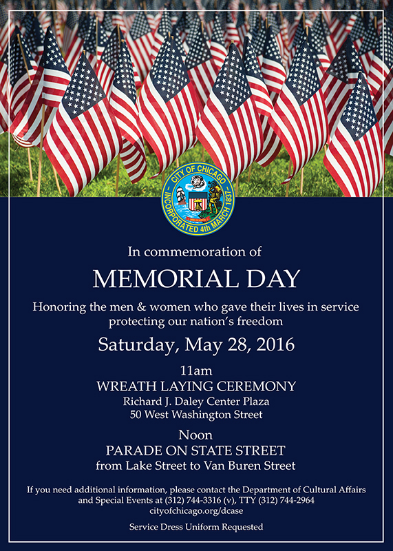 Memorial Day Invitation PUBLIC Ceremony 2016