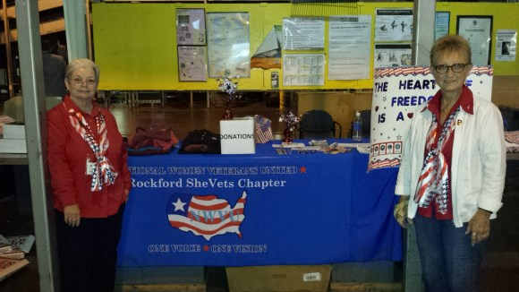 NWVU Rockford Shevets Vice-President- Mellody Brocato, (Marine Corps Veteran) and President- Nancy Clark, (Army Ret. Veteran)