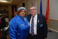 NWVU President, Rochelle Crump with John Steciw, Ukrainian American Veterans Post 32