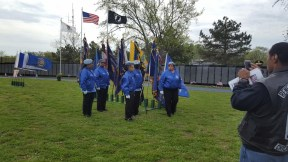 Posting Colors in Hazel Crest at the VFW Veterans Ceremony