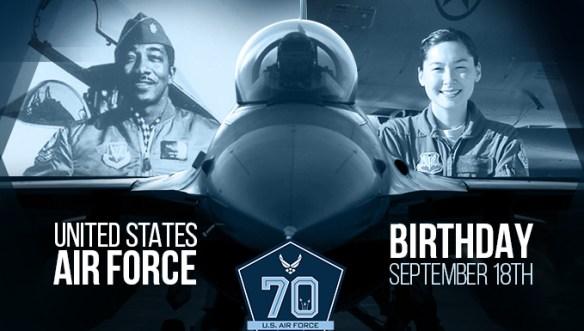 U.S. Air Force 70th Birthday