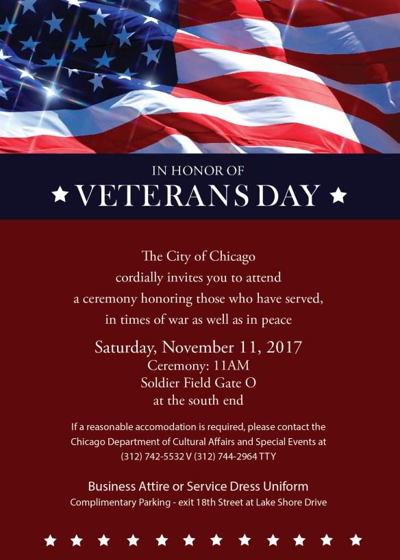 Veterans Day 2017 Invitation