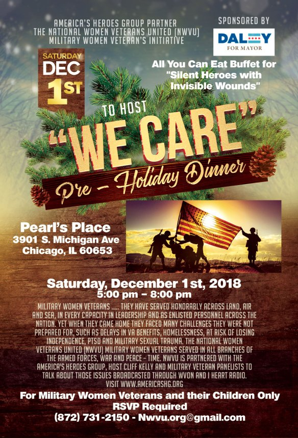 Women Veterans Dinner at Pearl's Place - flyer-holiday
