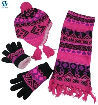scarf hat glove sets,wholesale knitted scarf beanie and ...