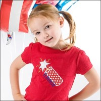 Custom  Boutique Monogrammed Patriotic Fourth of July Shirt GLOW IN THE DARK,  Boys and Girls, YOU Design