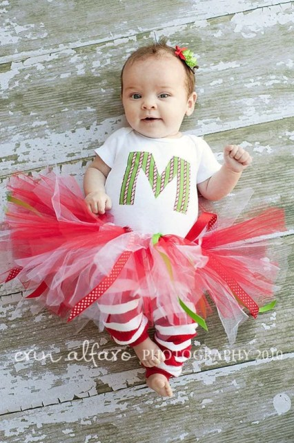 Christmas red & white with a sprinkle of green lil DIVA Set