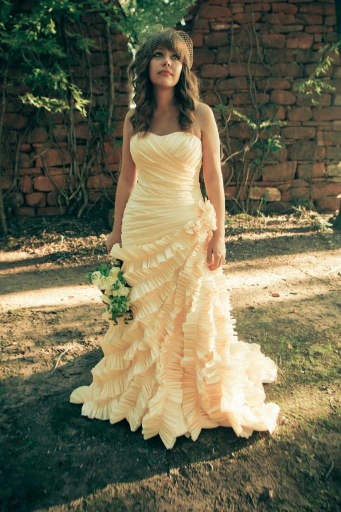Champagne Sweetheart Taffeta Ball Gown Wedding Dress