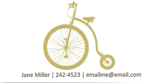Vintage Bicycle Calling Cards