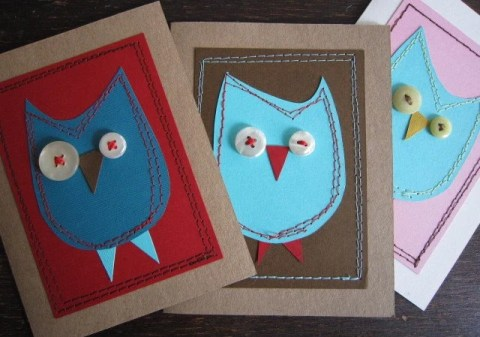 Owl Cards from pUnKrAwKpUrL.etsy.com