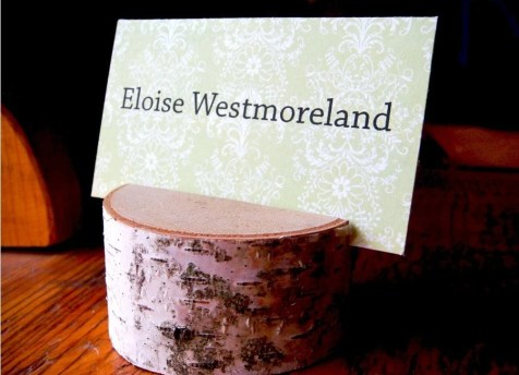 12 Natural Birch Wood Place Card / Name / Table Holders