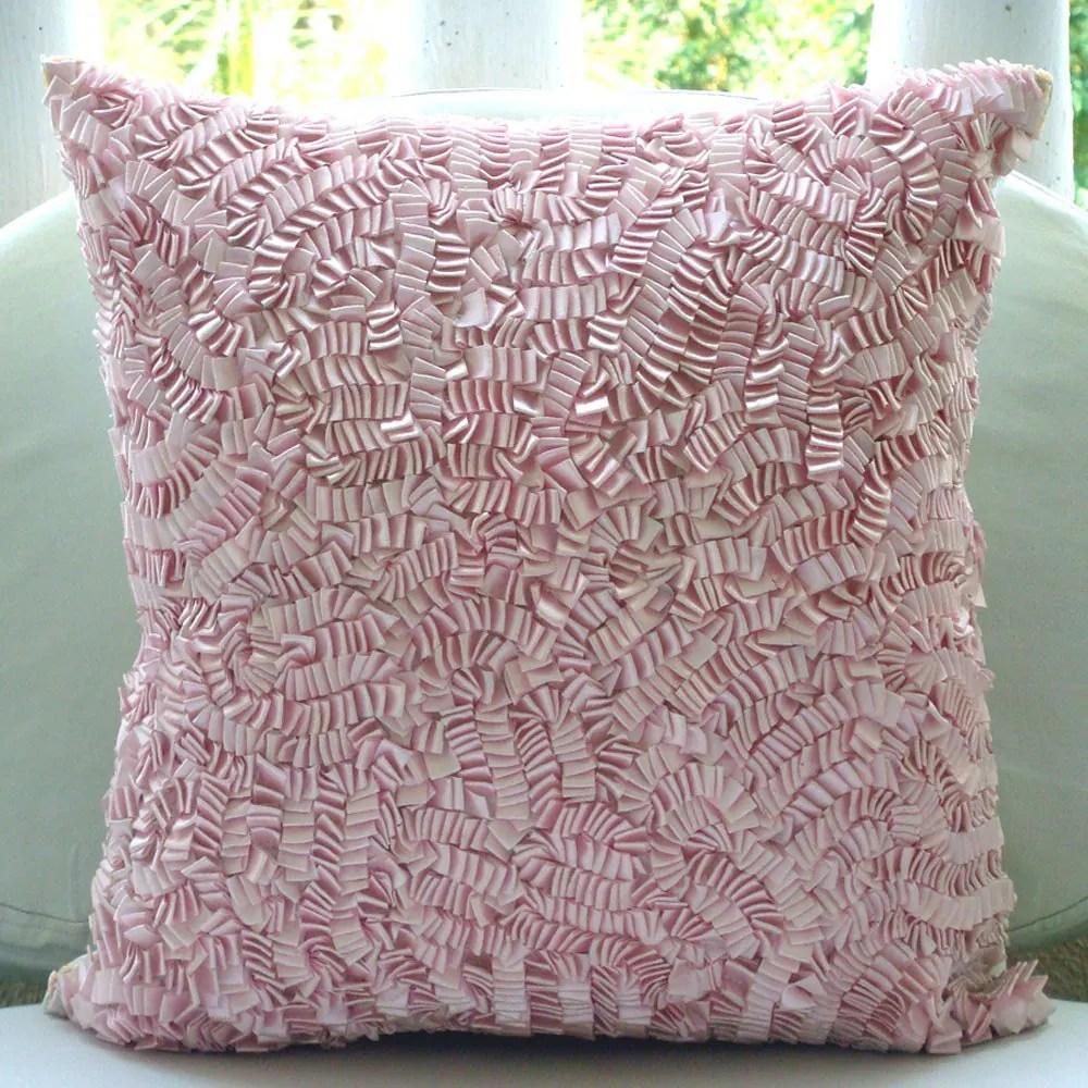 Pink Ribbon Art Work 12quotx12quot Silk Throw Pillows Cover