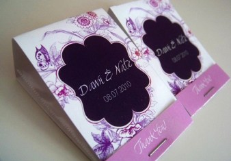 Personalized Matchbook Wedding Favors