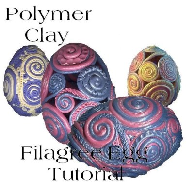 glori filigree polymer clay egg