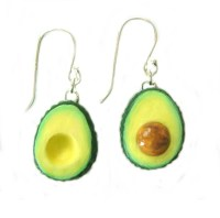 Avocado Earrings miniature food earrings by kawaiiculture