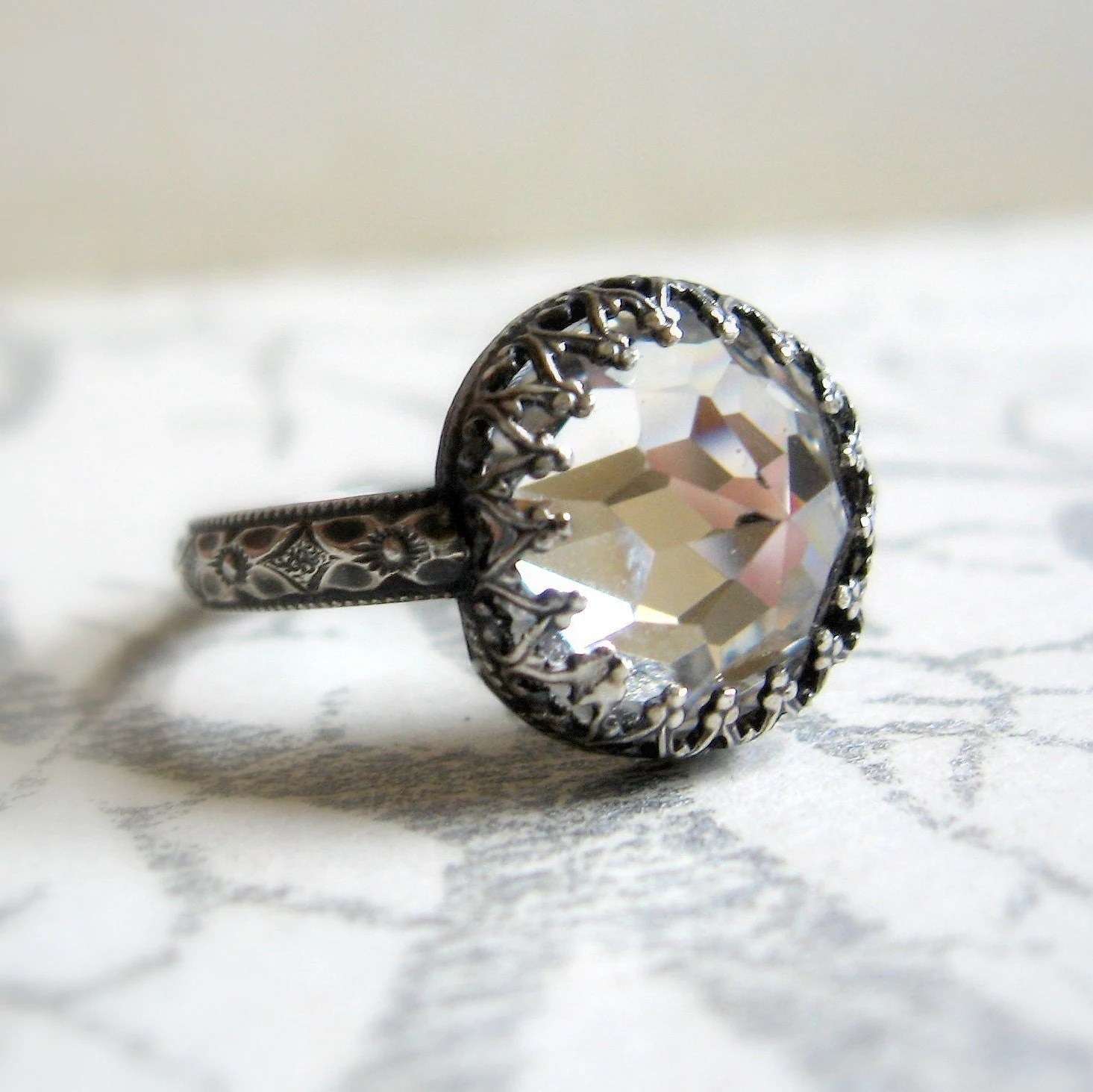 hello wedding non diamond wedding rings non traditional wedding rings Lemon Quartz Twig Ring by Sarah Hood Jewelry