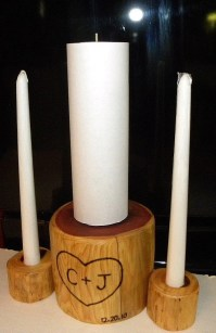 Wooden Unity Pillar Candle Holder Set-SPECIAL ORDERS ONLY