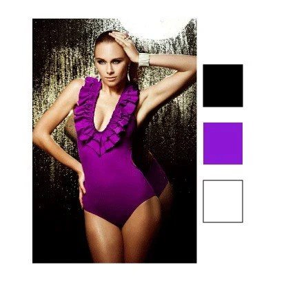 Belafigura V Neck Plunge Swimsuit Available for Breast Cancer