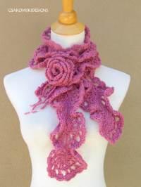 CROCHET FREE PATTERN ROMANTIC SCARF - Crochet  Learn How ...