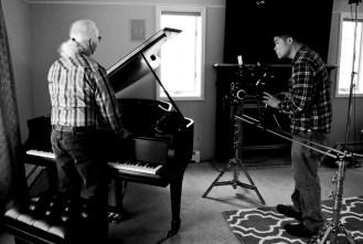 Tony prepares to tune the piano