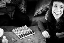 Ilana is ready for the chess match