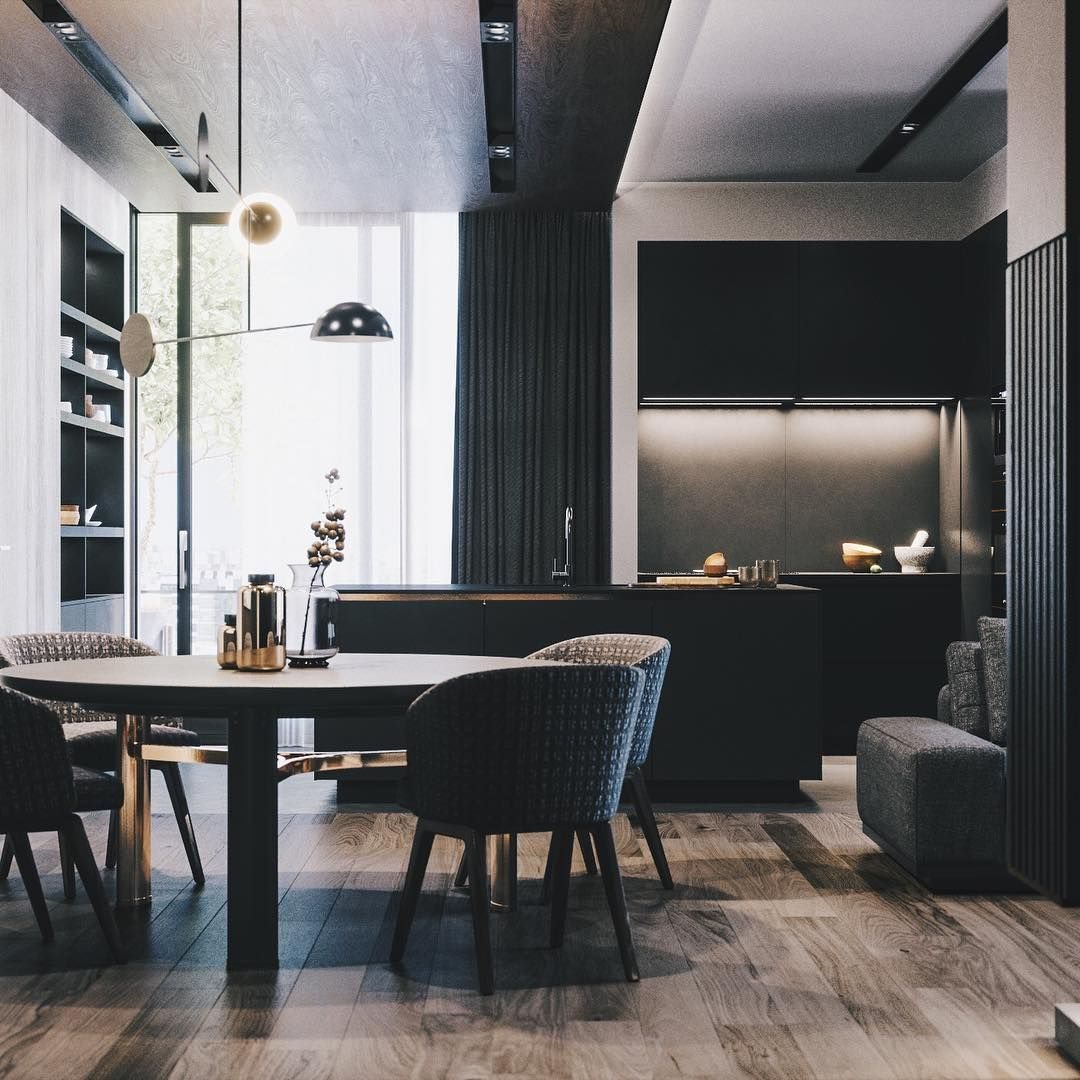 20 Attractive Dark Toned Elegant Interior Design Nyamanhome