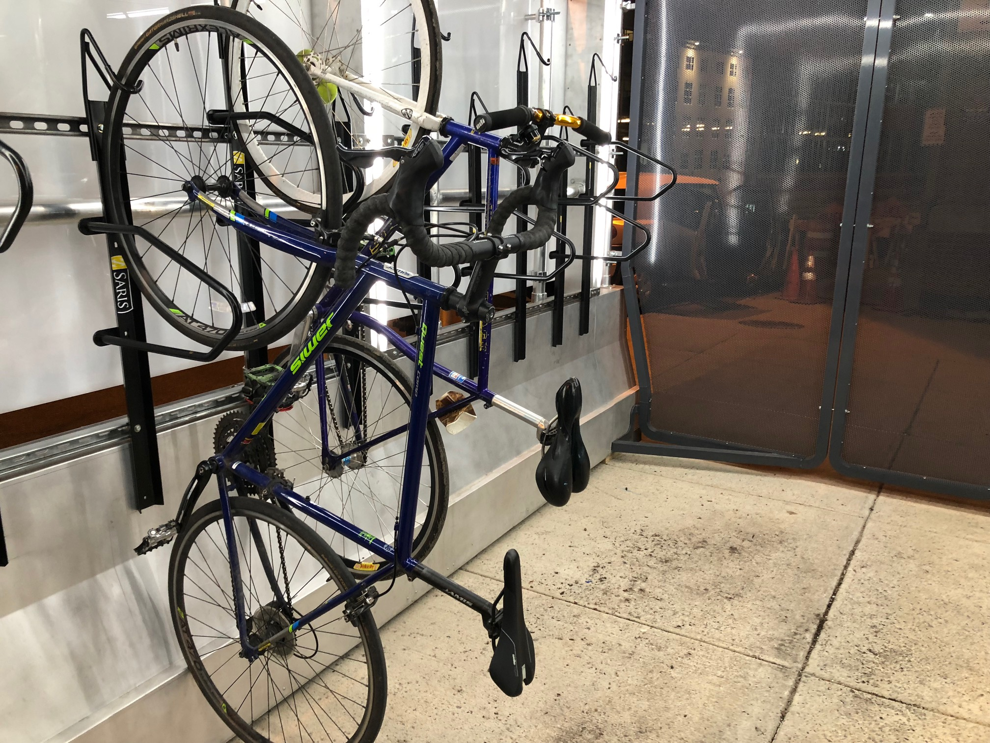 Parking Garage Bike Rack Meet The Oonee Pod Secure Bike Parking Designed To Be Flexible