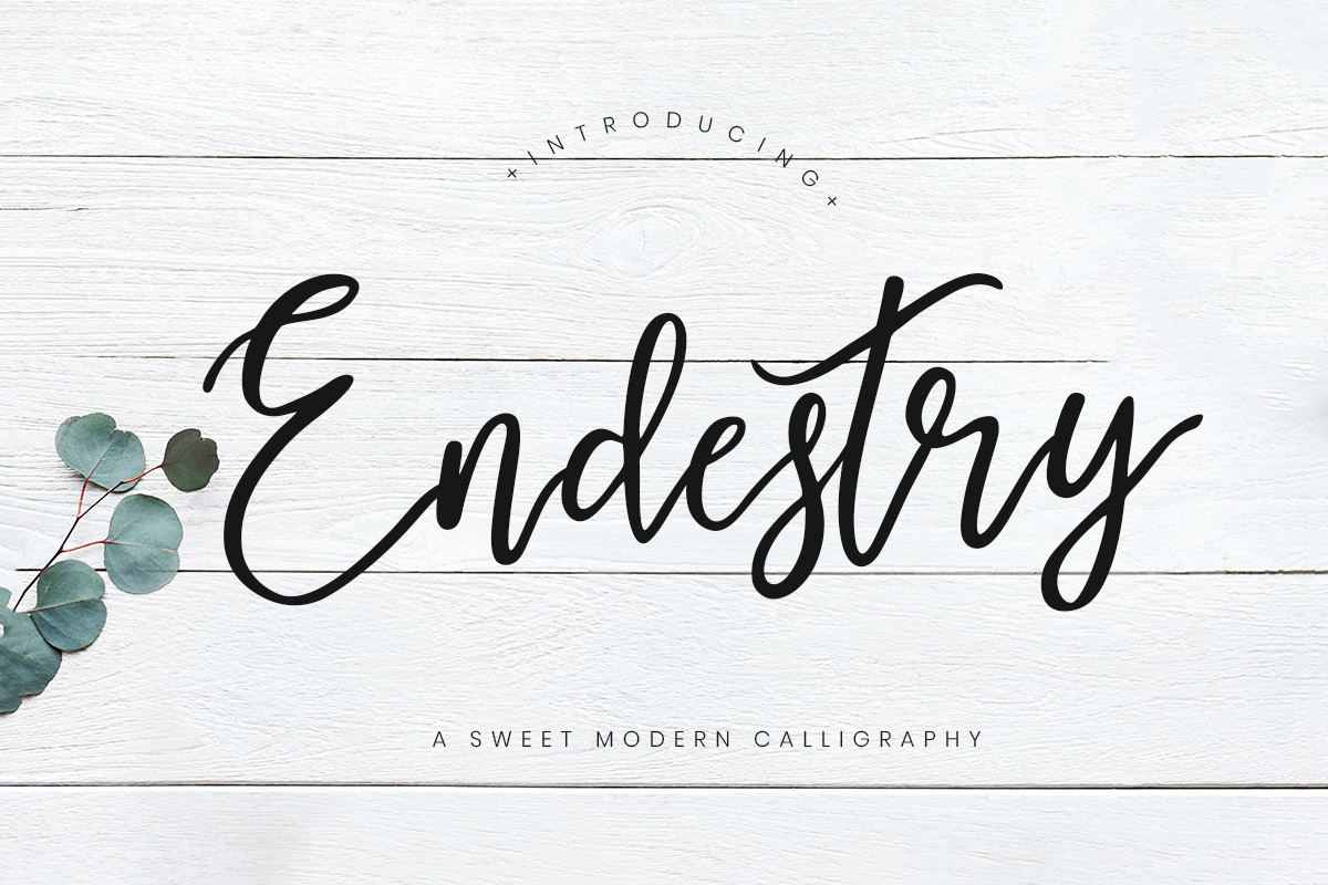 Free Endestry Modern Calligraphy Font Creativetacos
