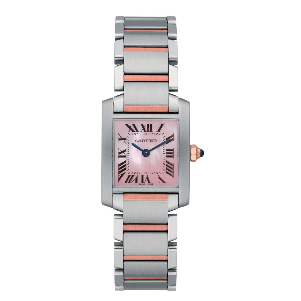 Cartier Watches Cartier Watches Tank Francaise Small Steel And Pink Gold