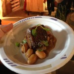 My favorite bite of the event. A very well cooked short rib with delicious beans.