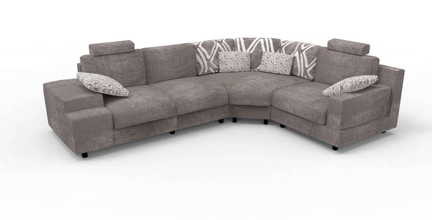 Made Sofa Reviews Soflex Cora Modern Grey Fabric New Modular Sectional Sofa