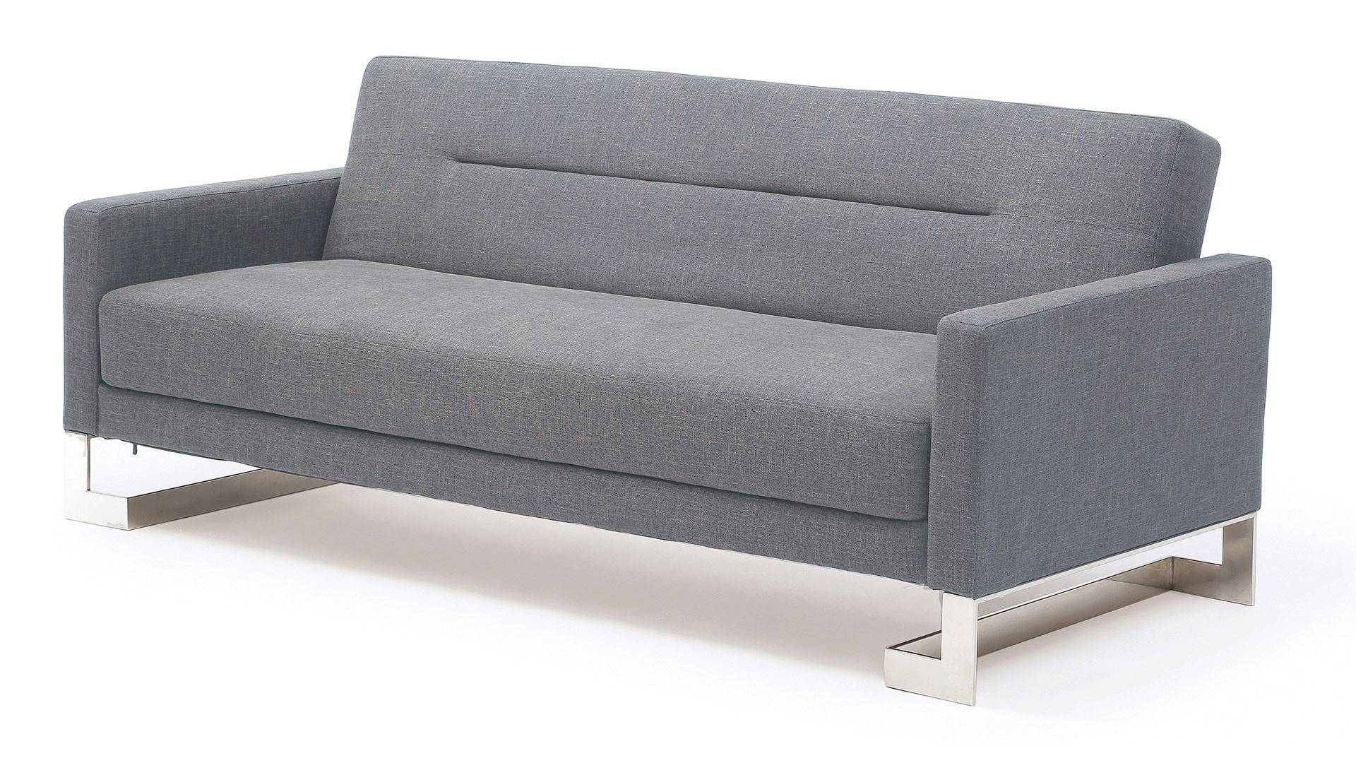 Buy Sofa Bed Online At Home Usa Savina Sofa Sleeper In Light Blue Pleated Backrest Modern Style