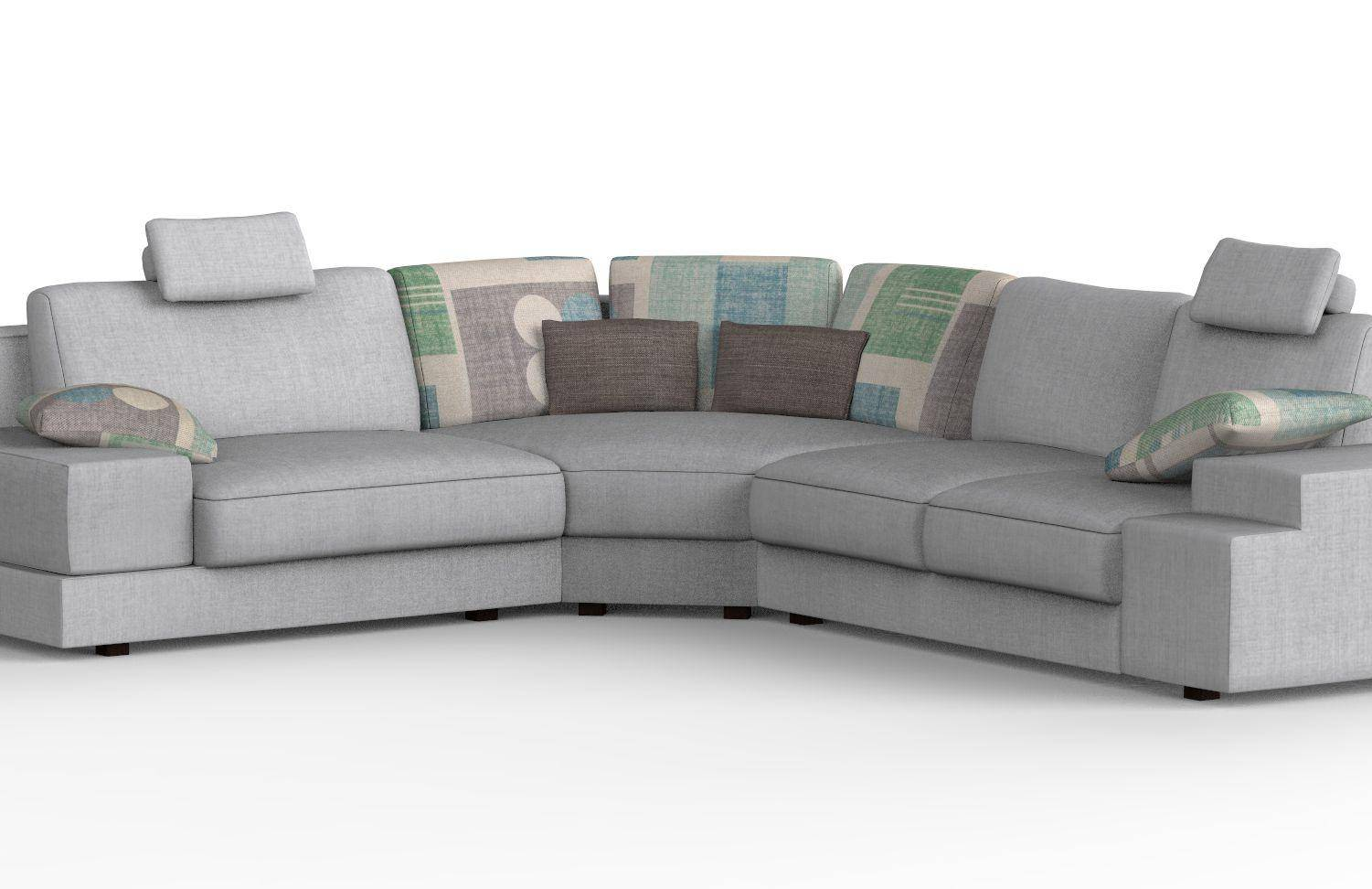 Made Sofa Reviews Soflex Cassandra Modern Grey Fabric Modular Sectional Sofa