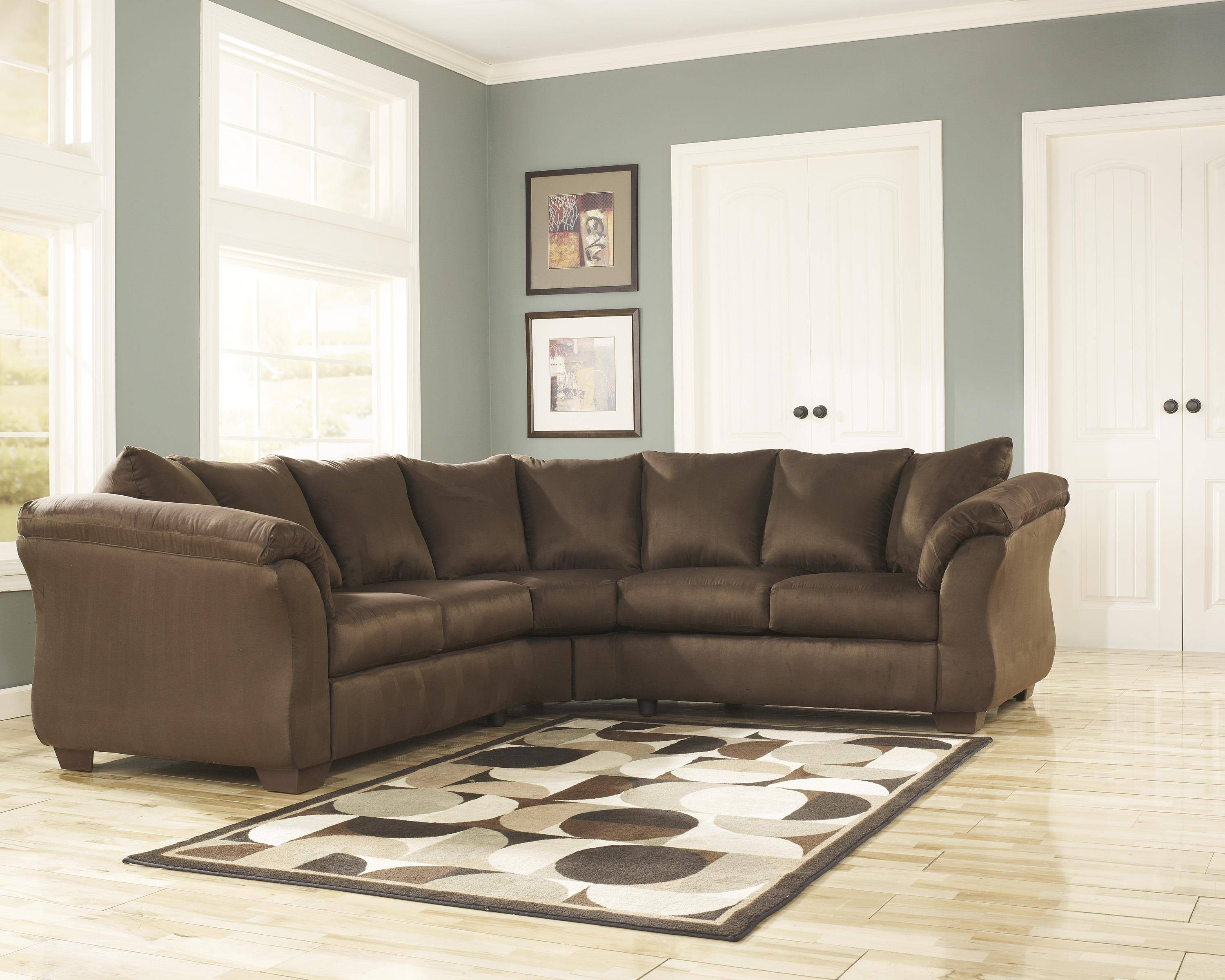 Darcy Sofa Ashley Review Ashley Darcy 2 Piece Sectional In Cafe (75004-55-56-kit