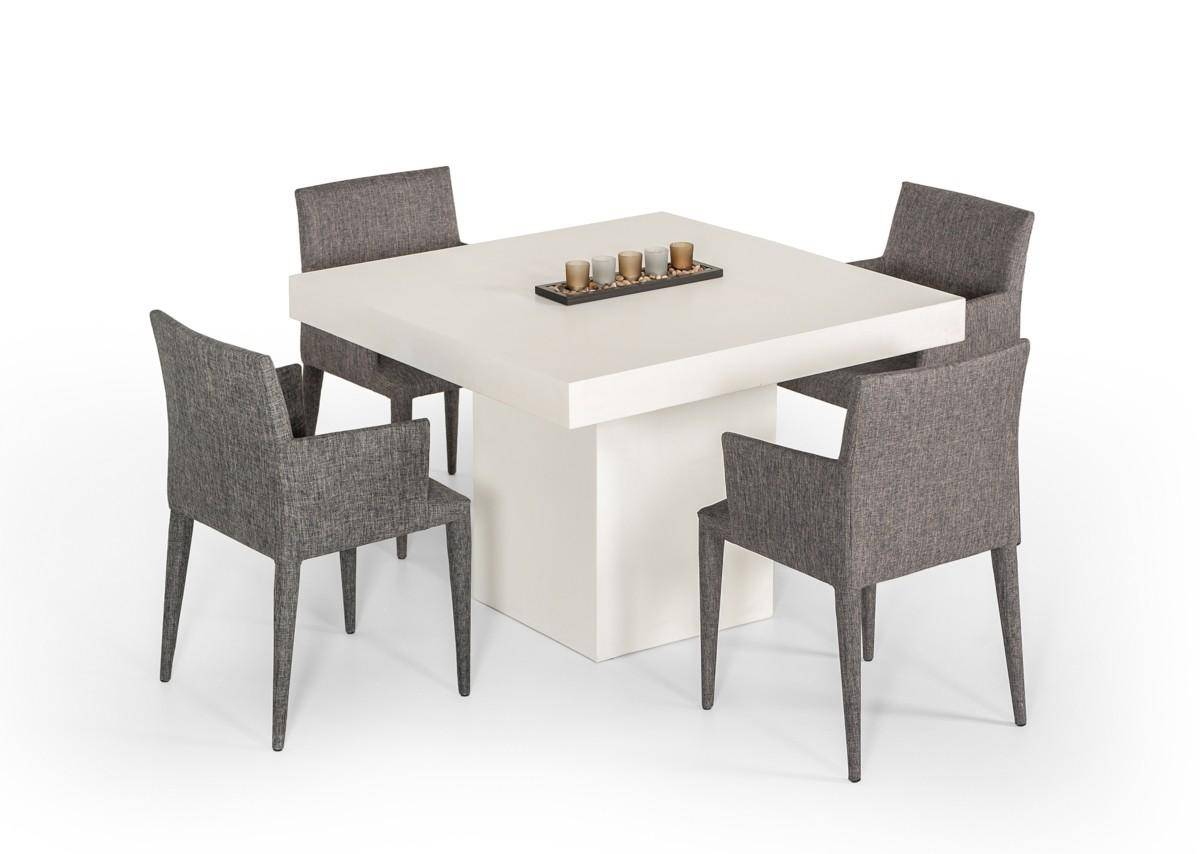 Vig Modrest Yem Ivory Concrete Square Dining Table Modern Contemporary Vggr640970 Ivy