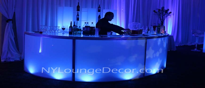 Rustic Bar Stools Ny Lounge Decor | Led Acrylic Round Bars