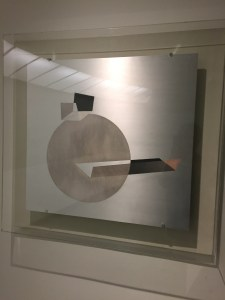 Moholy- M aluminum art exhibited at the Guggenheim