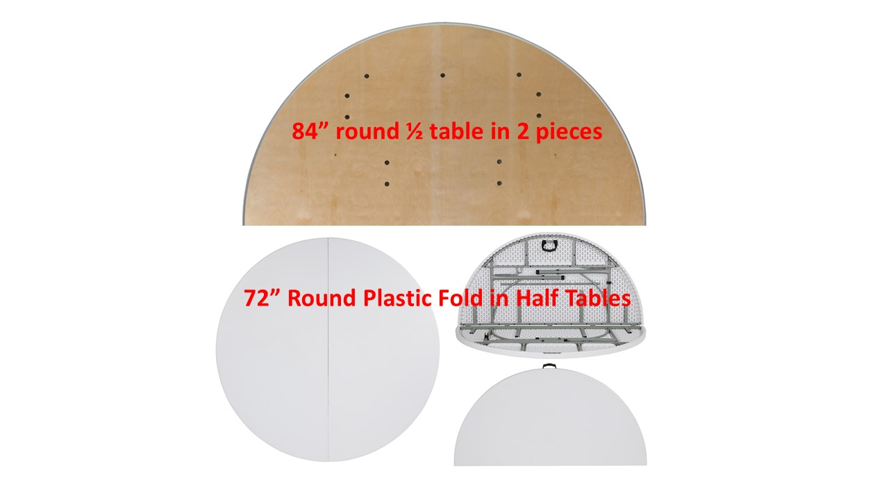 Round Plastic Tables D3 Round Plastic And Wood Tables Fold In Half