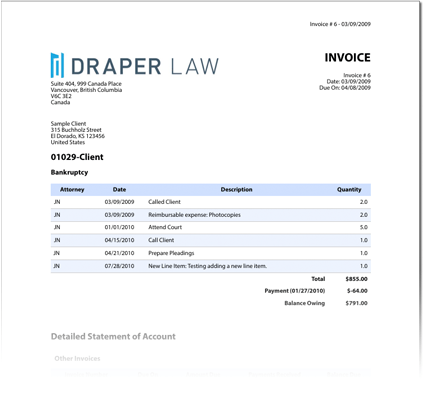 Legal Invoice Template For Attorneys | Customizable & Professional ...