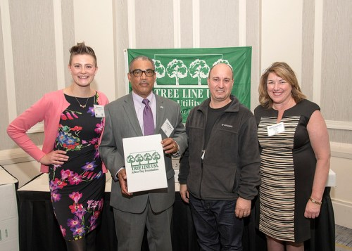 Allan Douglas (Field Operations Planner) and XXX ( I have to double check the name) celebrated Consolidated Edison's 9th year as a Tree Line USA. They were a sponsor for the 11th annual Tree City/Line/Campus USA recognition ceremony.