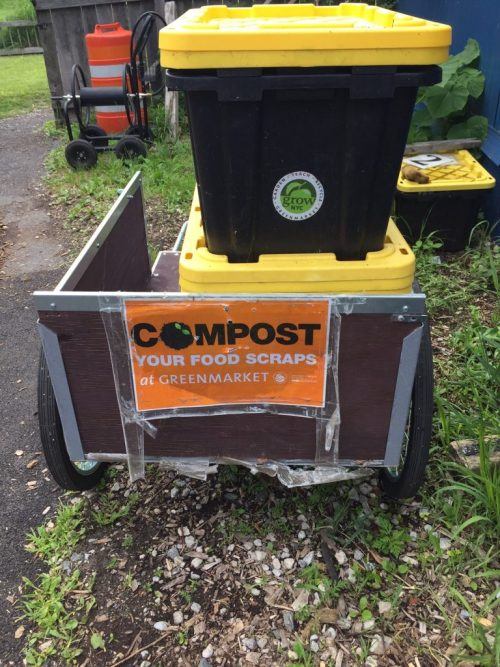Composting food waste at QBG