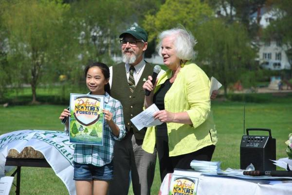 Sarah at Arbor Day ceremony