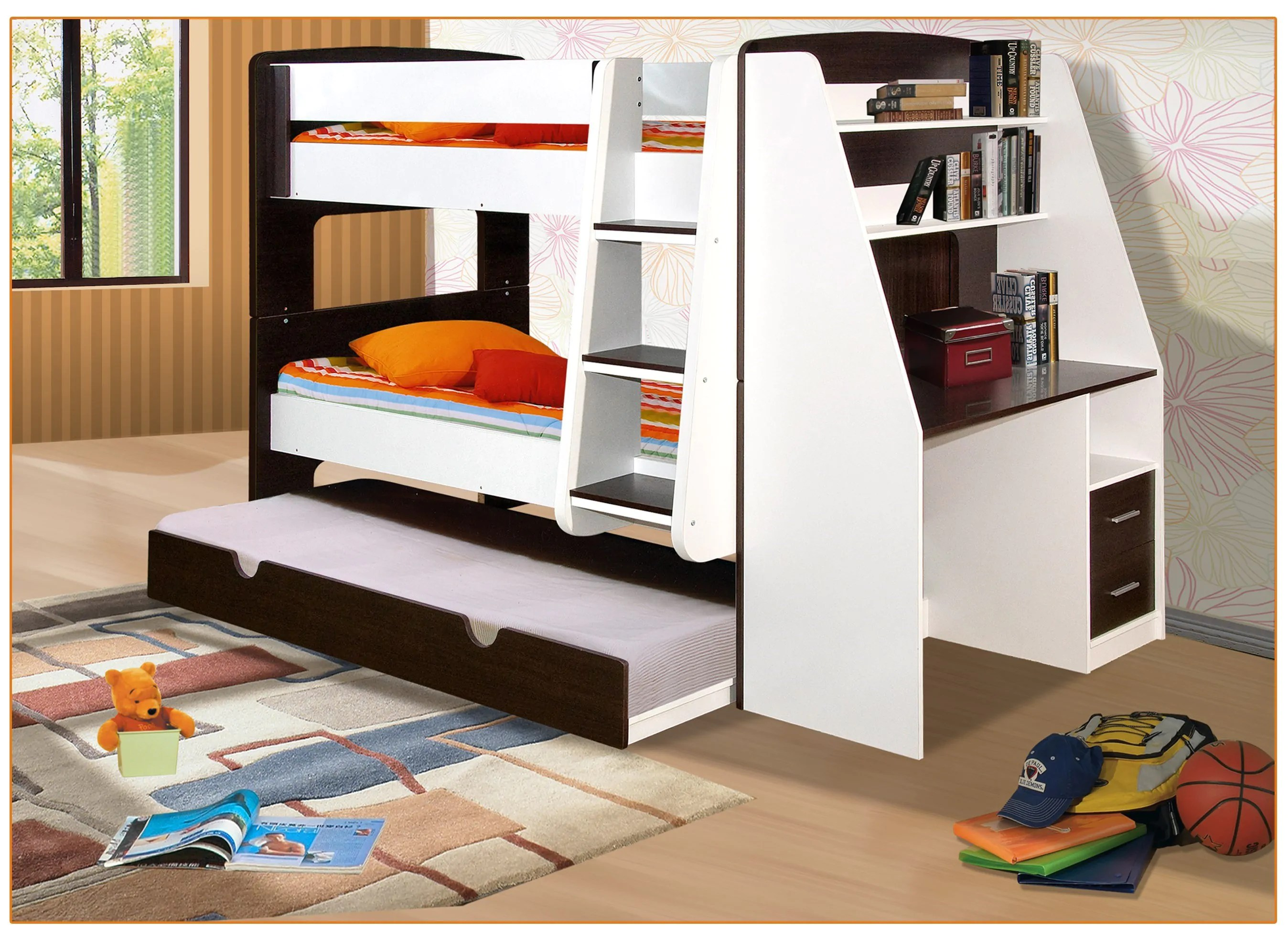 Bed Bunk California Single Bunk Beds With Trundle Bed And Desk