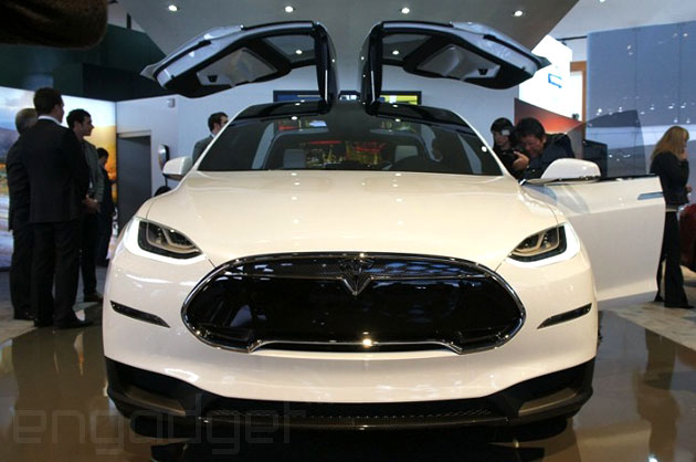 Tesla Model X head-on