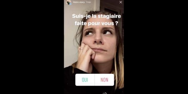 elle cree son cv sur instagram