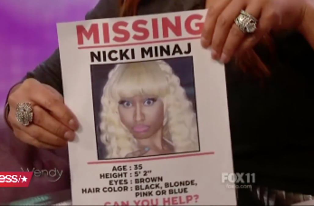 Wendy Williams prints missing persons posters to help find \u0027missing - missing persons posters
