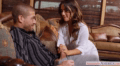 Beautiful Long Haired Wife Invites A Guy She Met Online